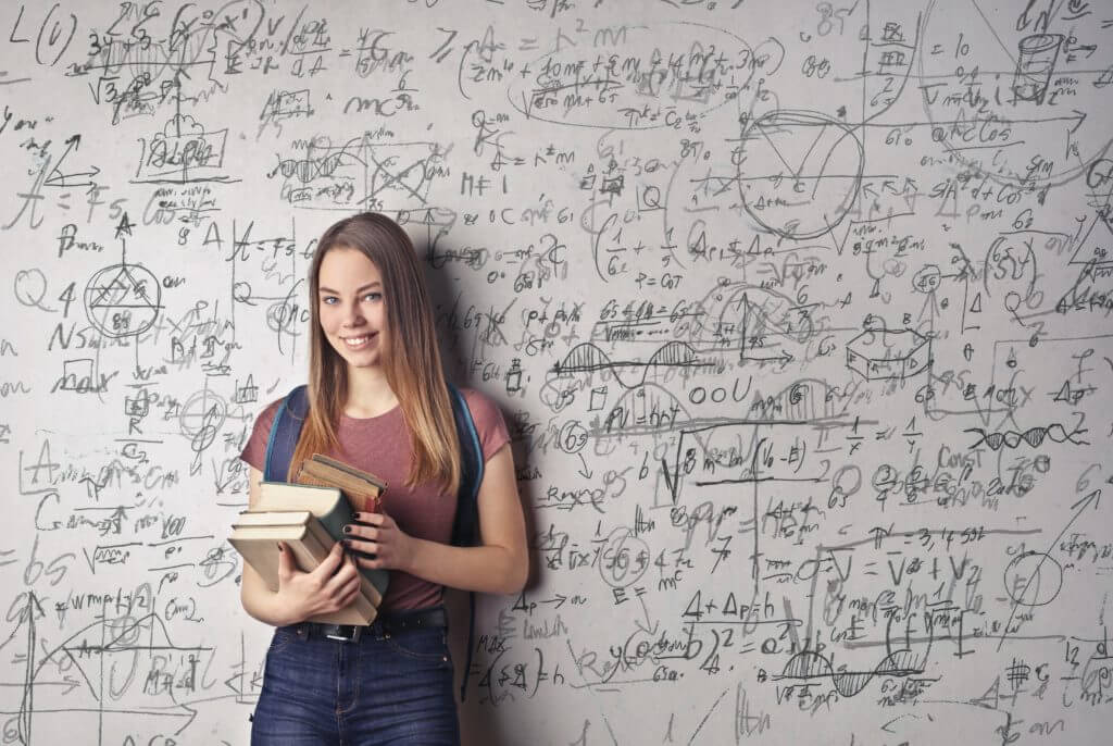 Girl taking Leaving Cert Maths grinds online or with a private tutor