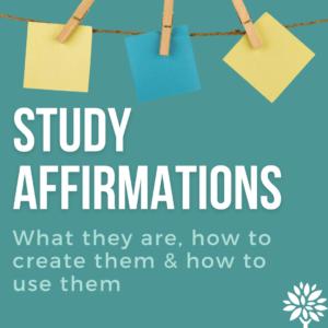 study affirmations instagram post